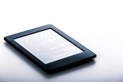 Black ebook reader or tablet on white background Stock Images