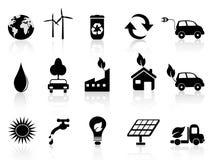 Black eco icon Royalty Free Stock Image