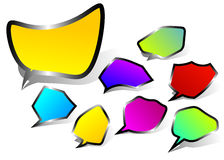 Black edged speech bubbles Stock Image