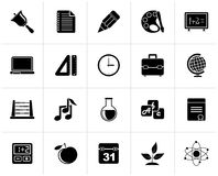 Black Education, science and studies icons. Vector icon set Stock Illustration