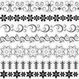 Black effortless border. S at the white background Royalty Free Stock Images