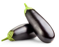 Black eggplants Royalty Free Stock Image