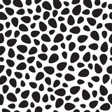 Black vector eggs seamless pattern Royalty Free Stock Image