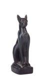 Black Egyptian cat. Isolated on white background Royalty Free Stock Photos