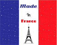 Black Eiffel tower, France flag Stock Image