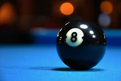 Black Eight Ball. Close up black eight ball Stock Image