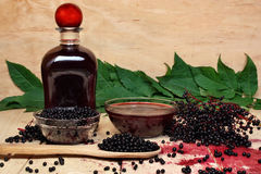 Black elderberry Stock Photo