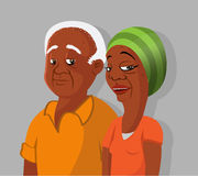 Black elderly couple Royalty Free Stock Photography