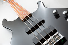 Black Electric Bass Guitar Stock Images