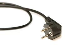Black electric cable Royalty Free Stock Images