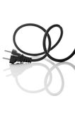 Black electric cable isolated Stock Photography