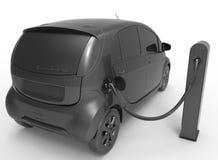 Black electric car concept Stock Photos