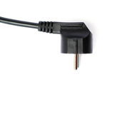 Black electric computer cable isolated over white background Stock Photo