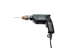 Black electric drill (Used) Royalty Free Stock Photography