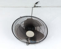 Black electric fan Stock Images