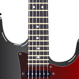 Black electric guitar Stock Photography