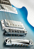 Blue electric guitar body Royalty Free Stock Photos