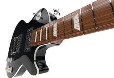Black Electric Guitar Closeup Stock Photography