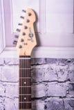 Black electric guitar Stock Photos