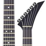 Black electric guitar o Stock Photos