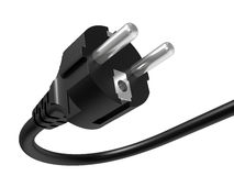 Black electric plug Stock Image