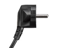 Black electric plug isolated Stock Photography