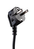 Black electric plug isolated Royalty Free Stock Photography