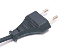 Black electric plug on white Royalty Free Stock Photo