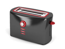 Black electric toaster Stock Images