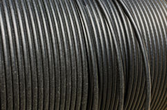 Black electrical cable Stock Image