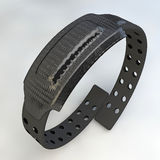 Black electronic bracelet Stock Photography
