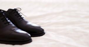 Black elegand shoes stock video