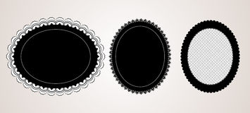Black elegant doily Stock Photography