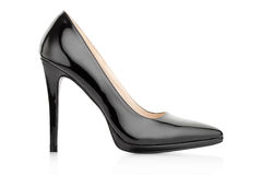 Black elegant shoe for woman Royalty Free Stock Images