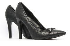 Black elegant shoes. Royalty Free Stock Photo