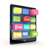 Black elegant tablet touch pad Royalty Free Stock Image