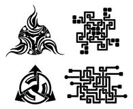 Black elements for design -  tattoo - vector Stock Photos