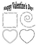 Black elements for valentine day - vector set Stock Photos