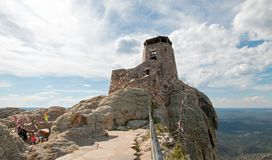 Black Elk Peak formerly known as Harney Peak Fire Lookout Tower in Custer State Park in the Black Hills of South Dakota USA royalty free stock image