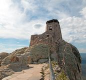 Black Elk Peak [formerly known as Harney Peak] Fire Lookout Tower in Custer State Park in the Black Hills of South Dakota USA. Black Elk Peak [formerly known as stock photos