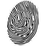 Black email finger print. Isolated on the white background  vector Royalty Free Stock Photos