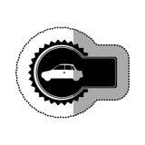 Black emblem car side icon. Illustration design Royalty Free Stock Photo