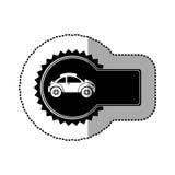 Black emblem sport car side icon. Illustration design Stock Photography