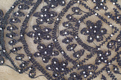 Black embroidery Royalty Free Stock Photo