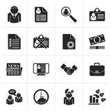 Black Employment and jobs icons. Vector icon set royalty free illustration