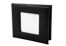 Black empty cd case. Empty cd holder with space for a photo inserted Stock Image