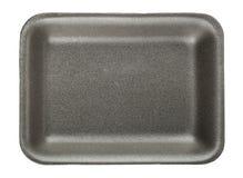 Black empty food tray Stock Photography