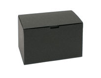 Black empty paper box Stock Photography