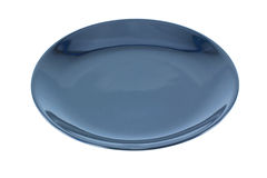 Black Empty plate Royalty Free Stock Image
