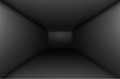 Black empty room stock illustration
